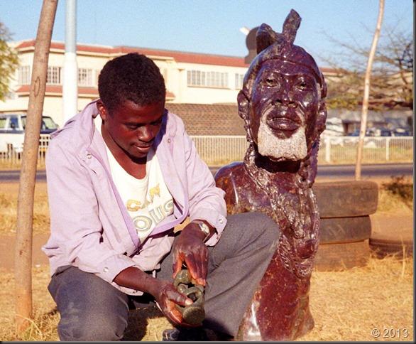 Harare soapstone carver