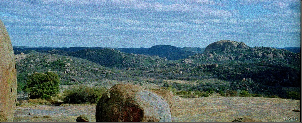 Matobo Hills - view north from Cecil Rhodes grave