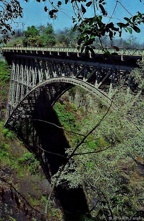 Victoria Falls - Cecil Rhodes' railway bridge