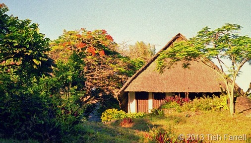 Maweni cottage at sunset