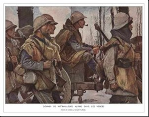 300px-A_Machine-Gun_Company_of_Chasseurs_Alpins_in_the_Barren_Winter_Landscape_of_the_Vosges._painting_by_Francois_Flamenge[1]