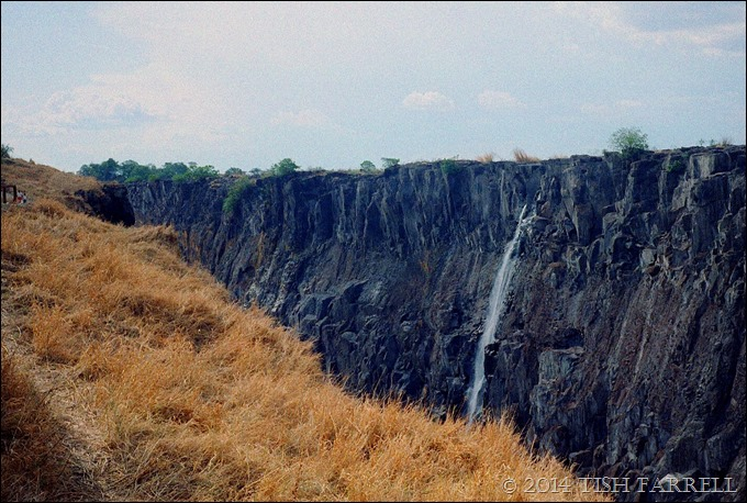 Zambia's Victoria Falls in the dry season