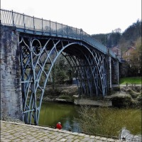 Not Any Old Bridge ~ But The World's First Cast Iron Bridge Built By Abraham Darby in 1779