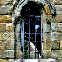 Window On The Past ~ Looking In, Looking Out At Much Wenlock Priory