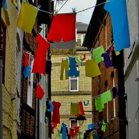 New Take On Bunting In Leominster ~ Wordless Wednesday