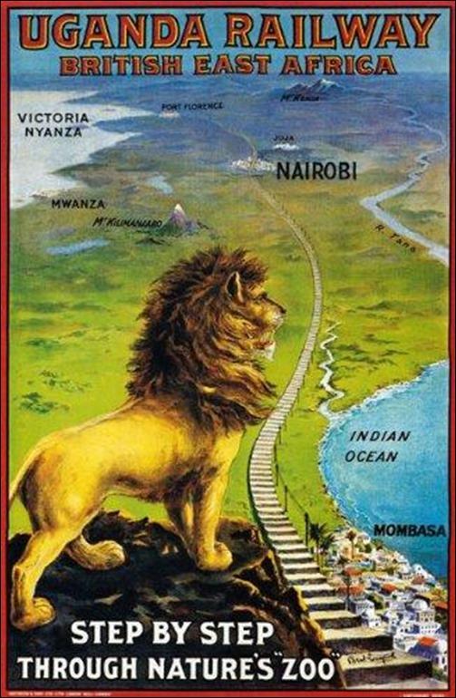 Uganda railway poster
