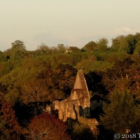 Coming Home From The Allotment ~ The Priory Ruins At Sunset