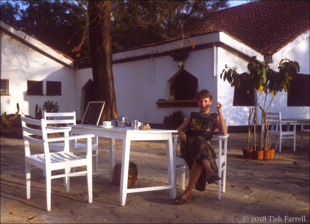 Tish on the terrace 1992