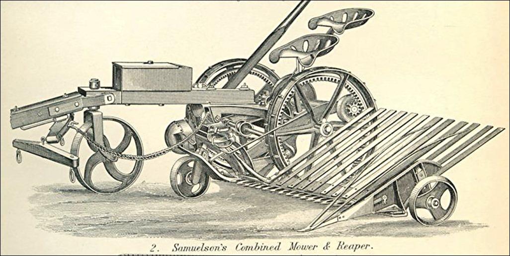Samuelson mower reaper