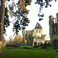 Wenlock Priory On An Autumn Afternoon
