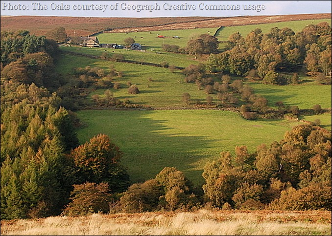 Photos kindly supplied by Geograph, and may be reused subject to this creative commons usage licence Oaks Farm