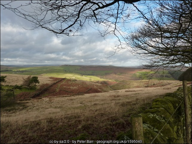 view from west of Gotherage Plantation, Bretton Clough below geograph-1595040-by-Peter-Barr